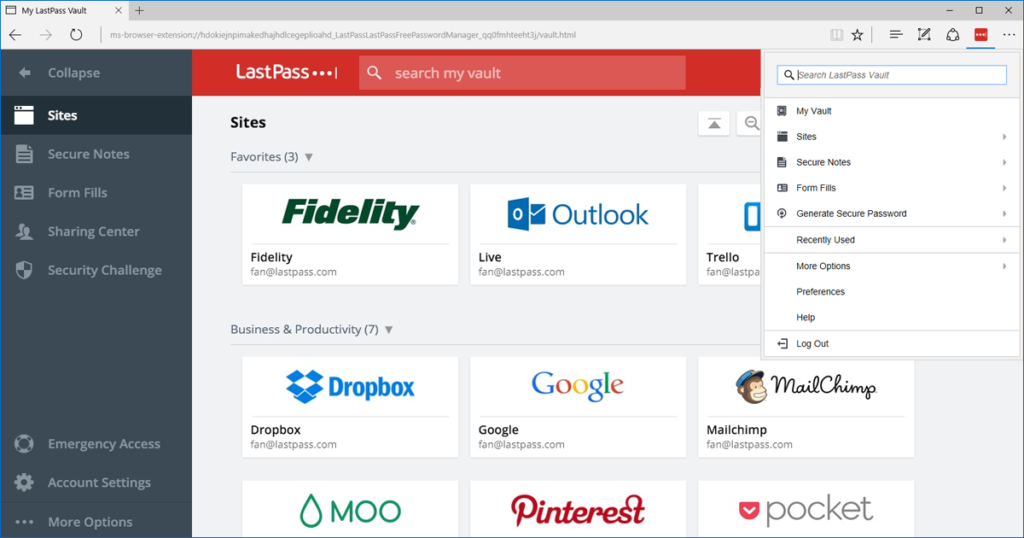 lastpass google chrome extension