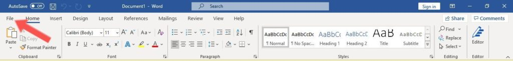 Lock microsoft word document