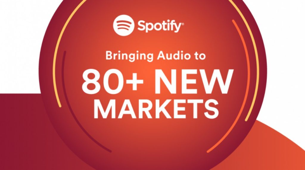 spotify in 80 new markets