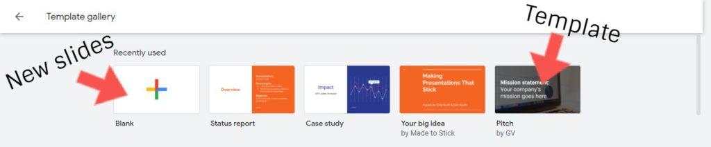 create presentation google slides