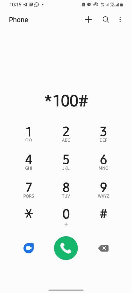 Dial *100#