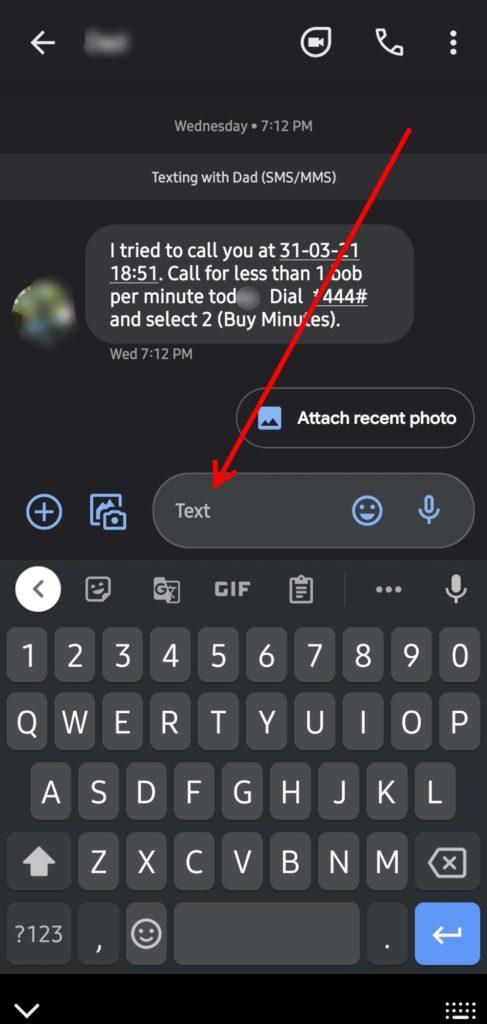 google messages text