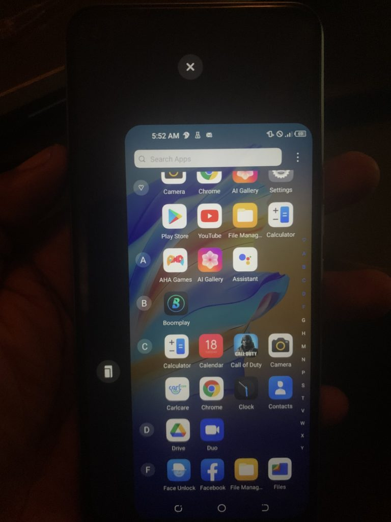Tecno Camon 17 special features - One-hand