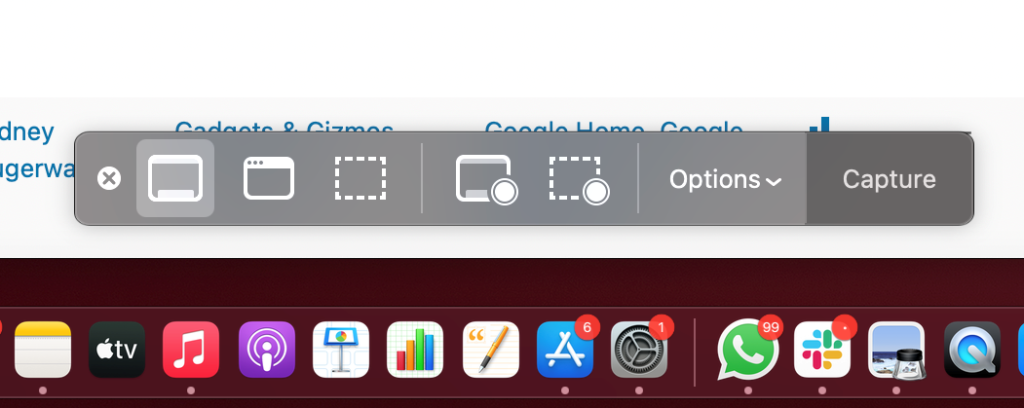 Take Screenshot Mac