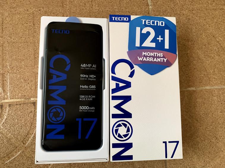 Camon 17 unboxing