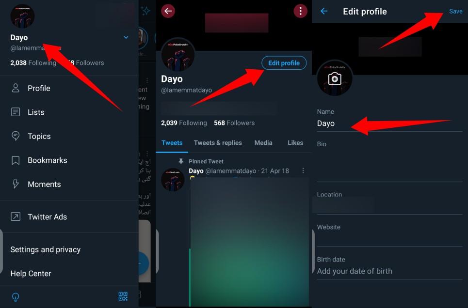 Change your Twitter Username