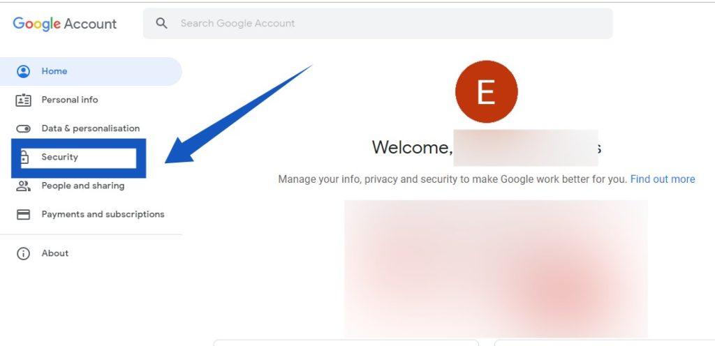 Google Account chrome