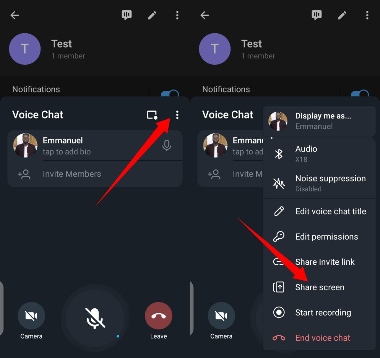 Group Video Call on Telegram