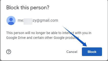 Block user Google Drive