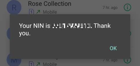 check NIN number phone