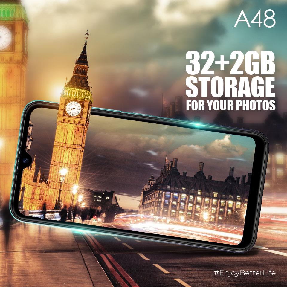 iTel A48 RAM and Storage