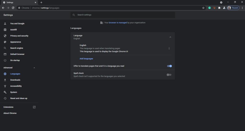 Configuración de idioma de Chrome para PC