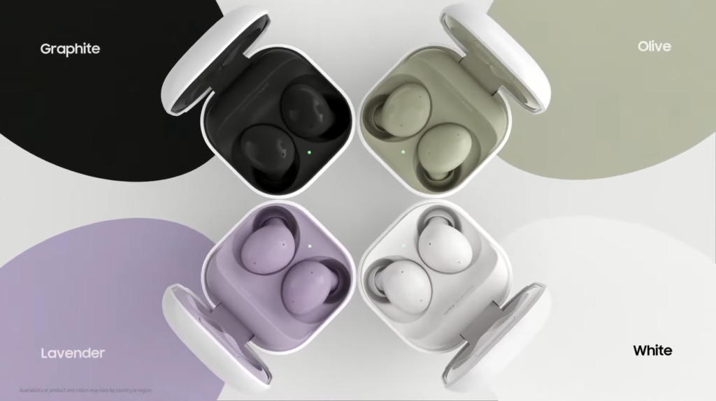 Galaxy Buds 2 colour options