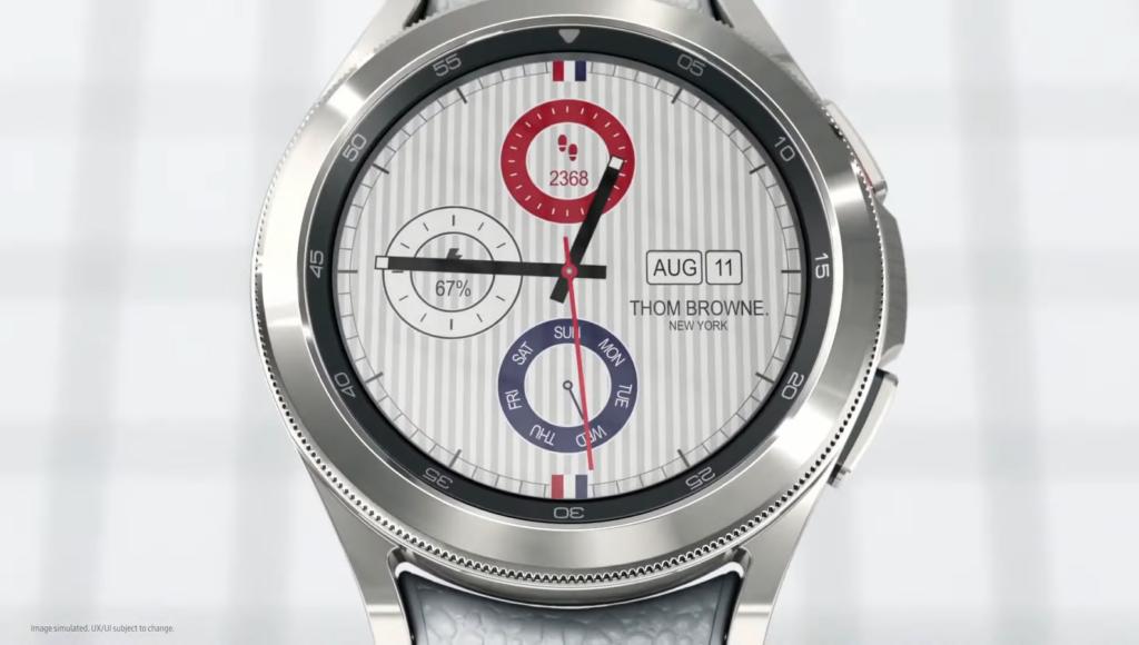 Galaxy Watch 4 Classic Thom Browne Edition Watch Face