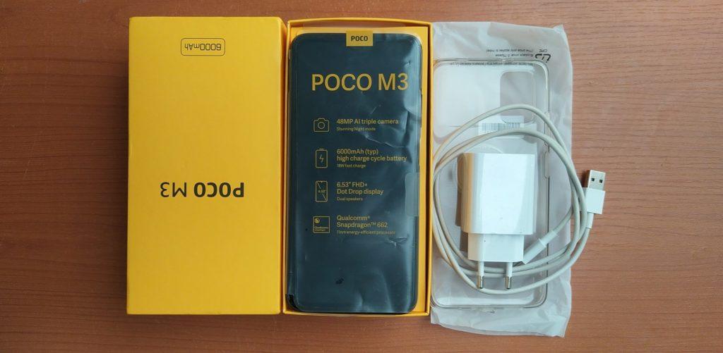 Poco M3 in the box