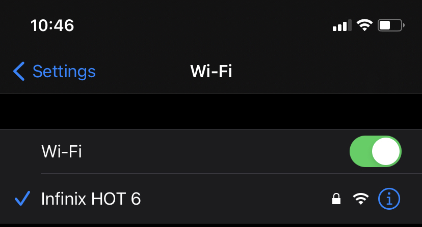 Forget Wi-Fi network iPhone