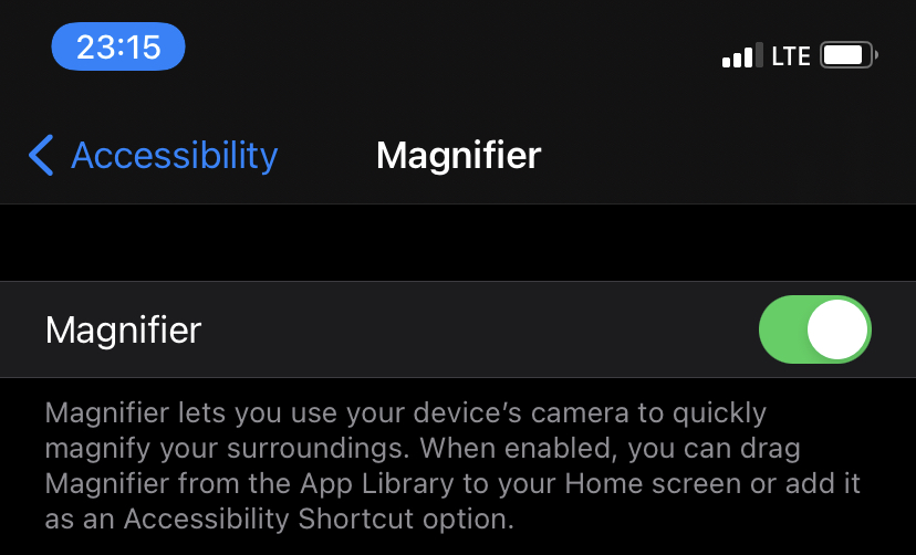 iPhone tips and tricks magnifier