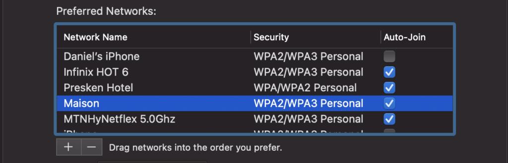 Forget Wi-Fi network MacBook