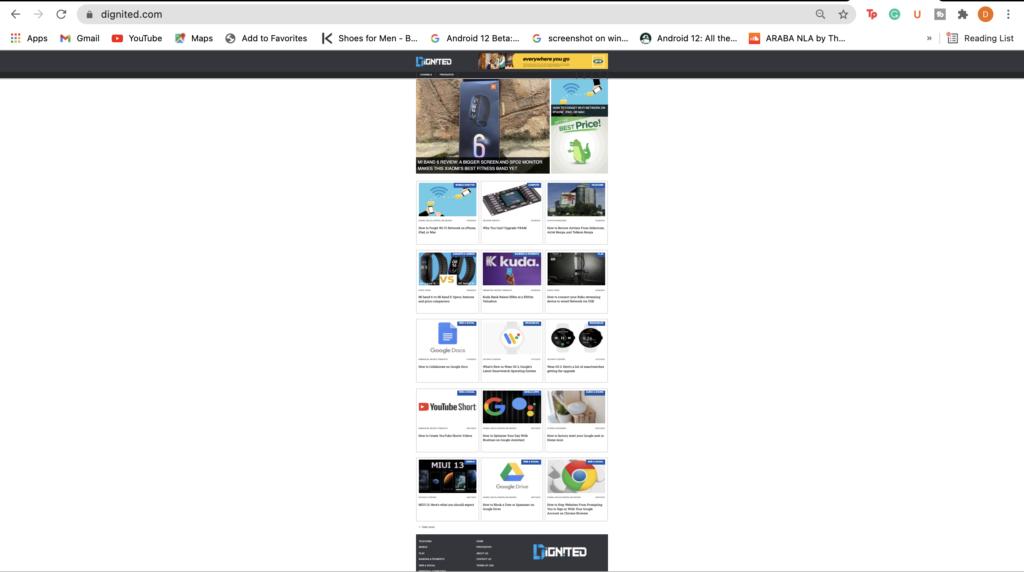 full web page screenshots mac