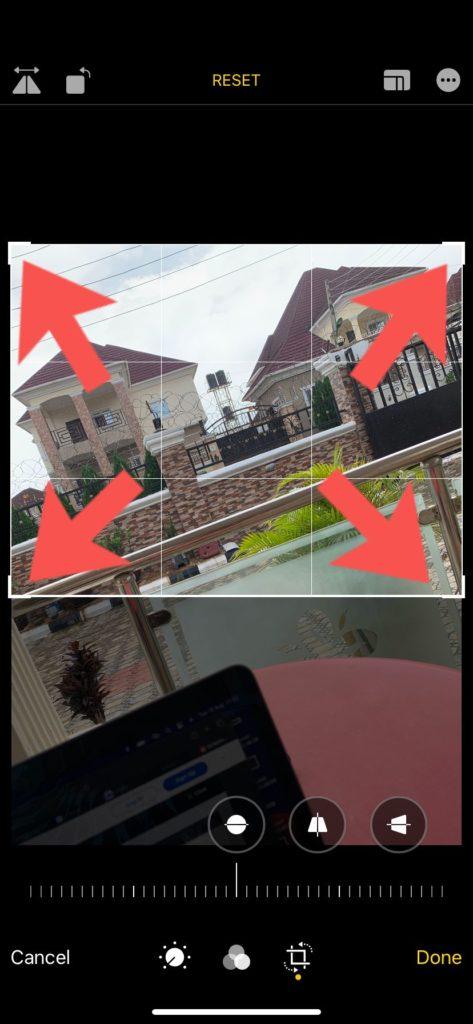 crop photos on iPhone