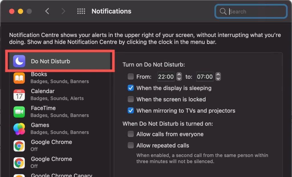 Do Not Disturb Mac