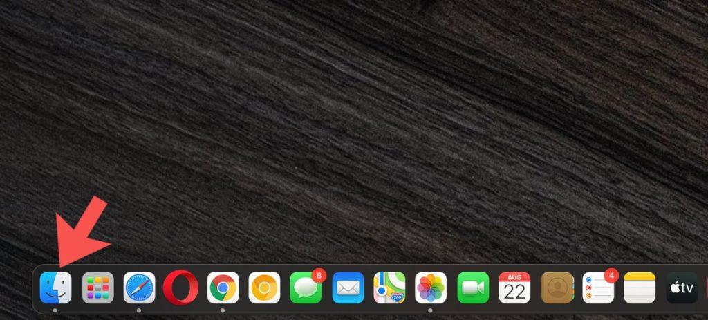 Finder app on MacBook