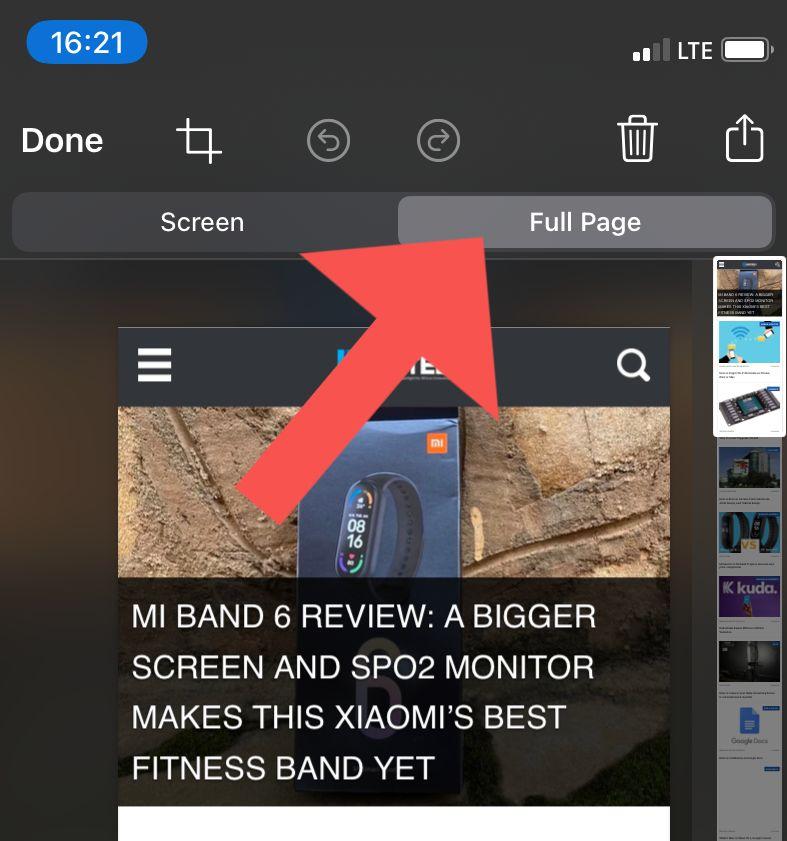 full web page screenshots iphone
