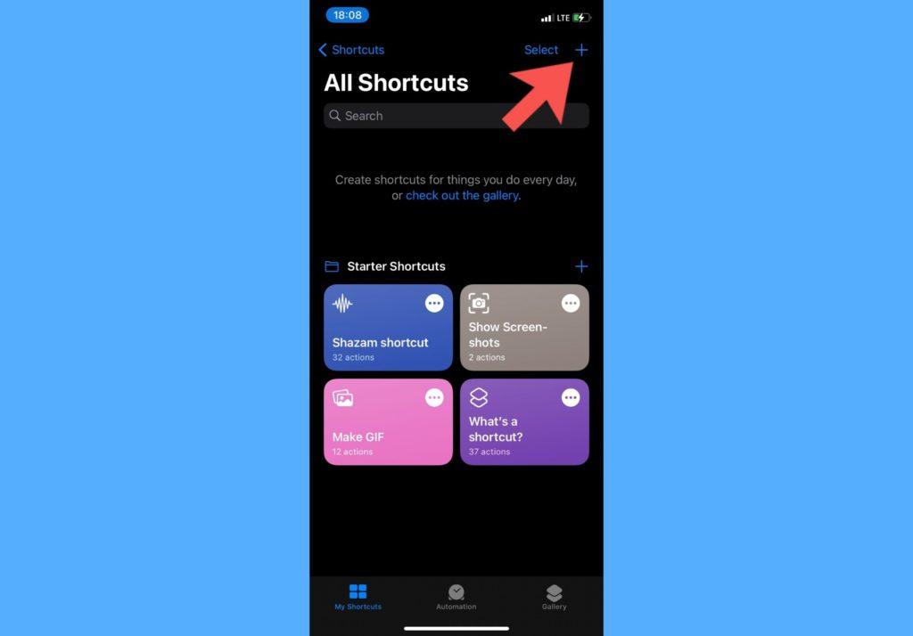 add iphone shortcuts
