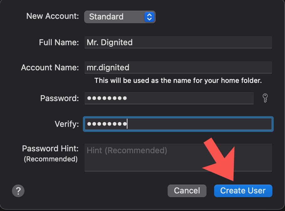 create multiple user accounts Mac