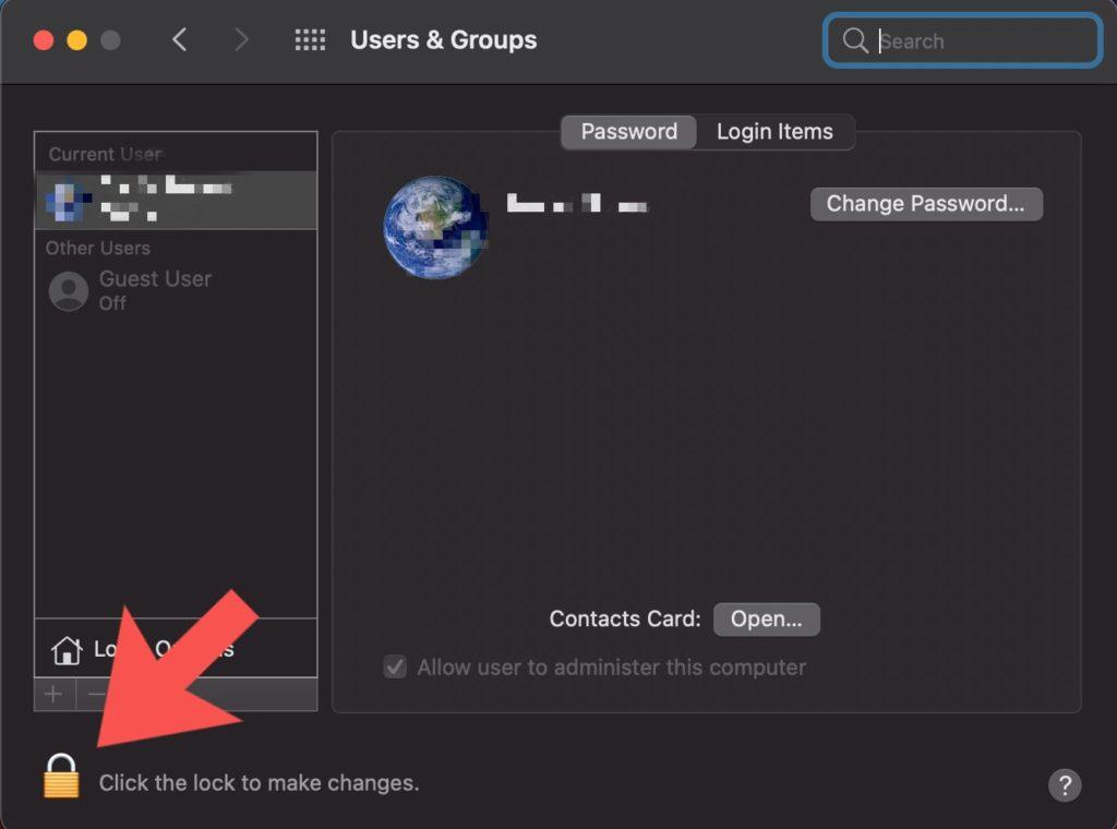 set up guest user account macbook
