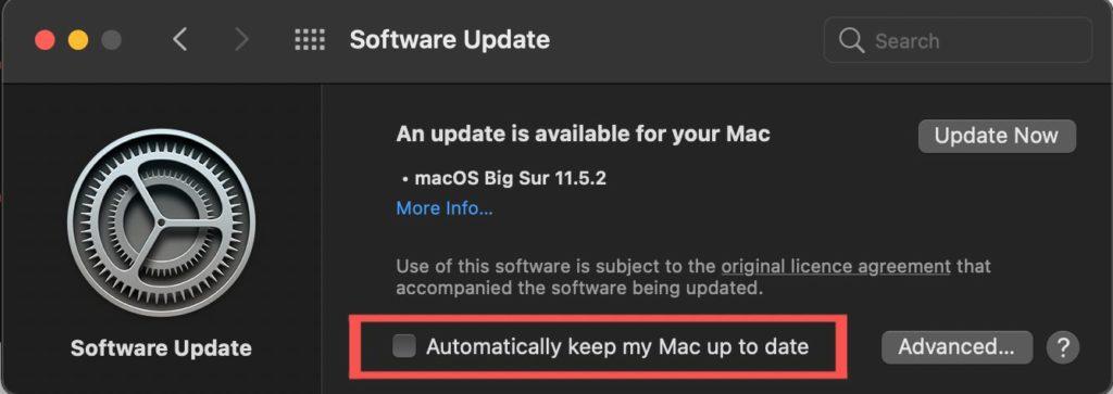 update or upgrade macOS MacBook