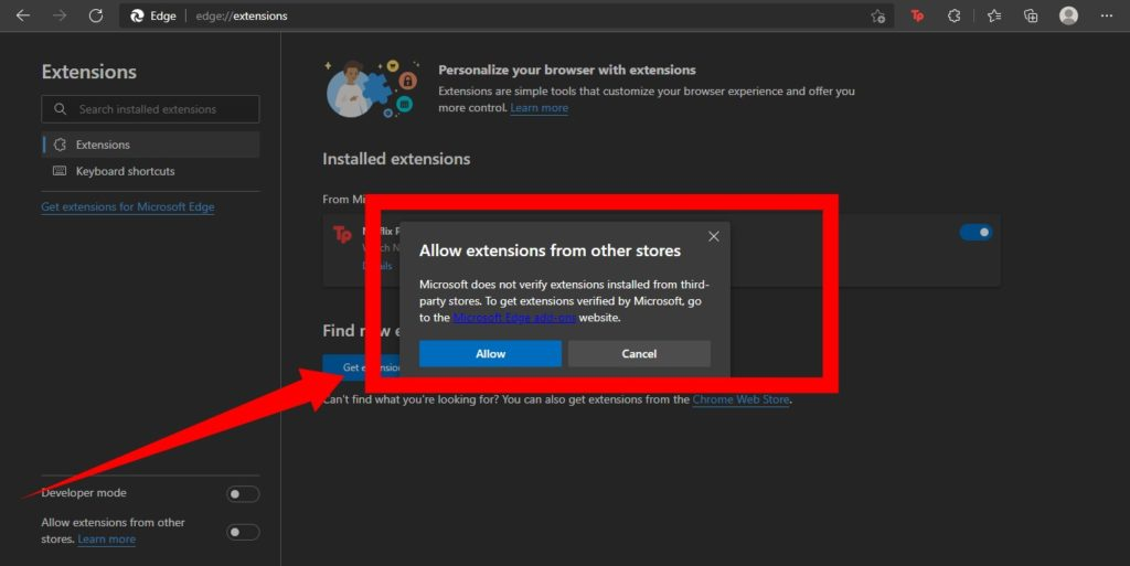 Chrome Extension Microsoft Edge