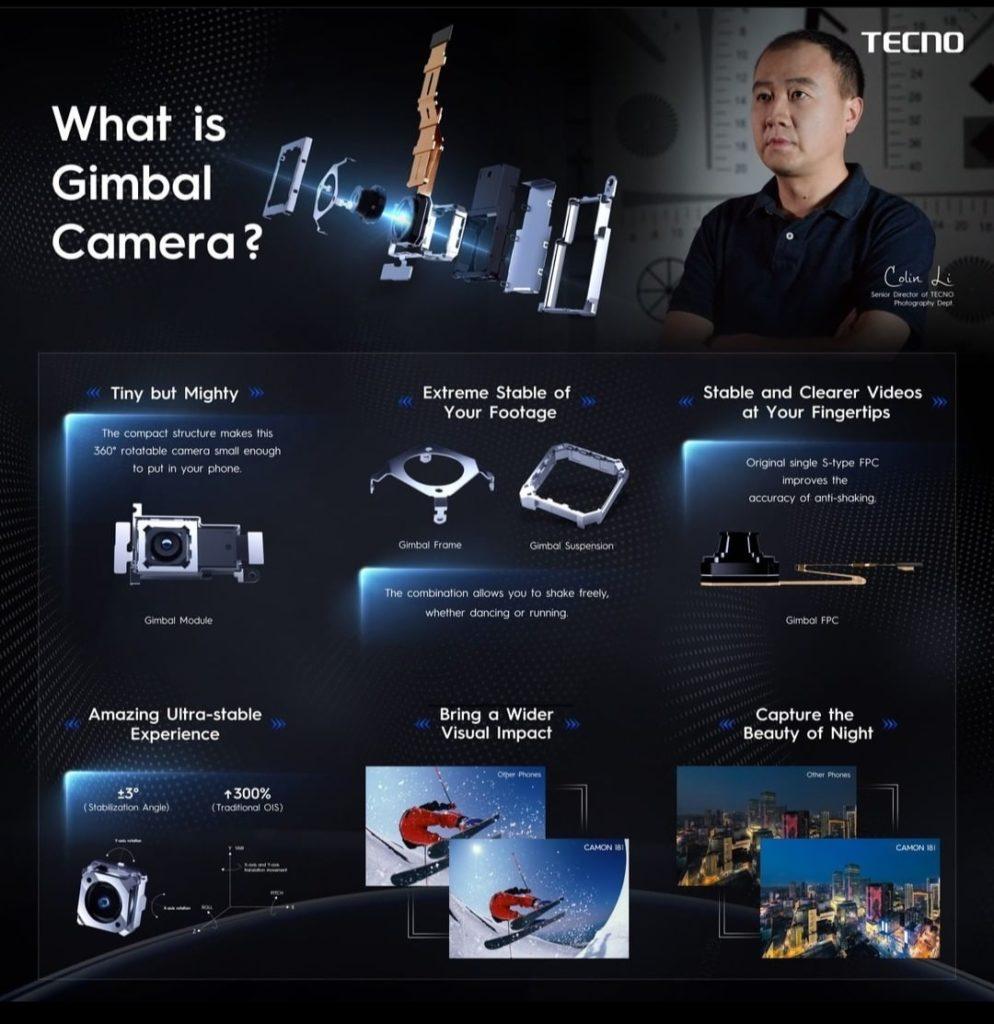 Tecno Camon 18 Premier gimbal camera