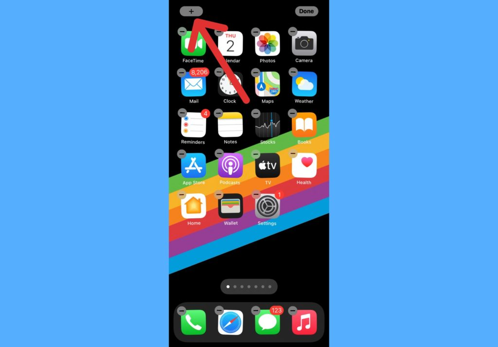 add widgets to iPhone