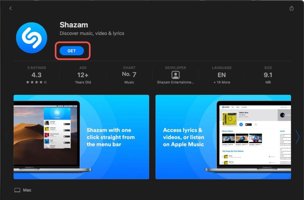 get Shazam Mac