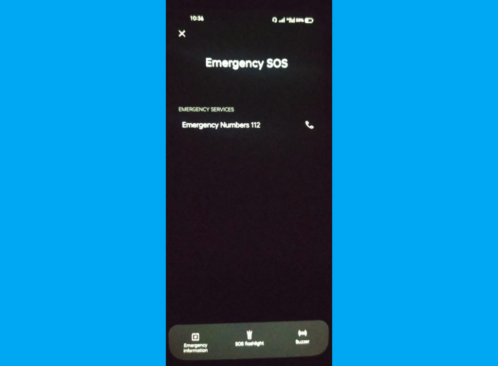 Android emergency contact info