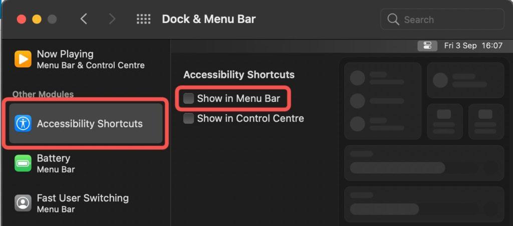 menu bar macbook