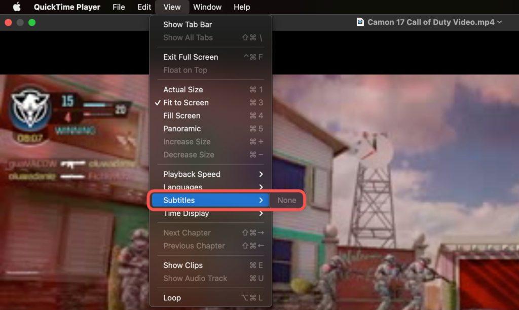 quick player subtitles mac