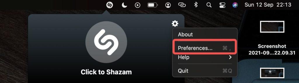 shazam preferences