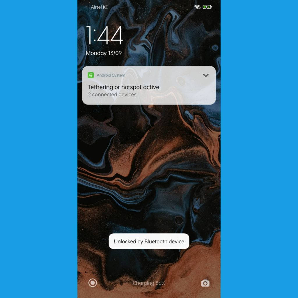 Android Unlocked by Bluetooth device