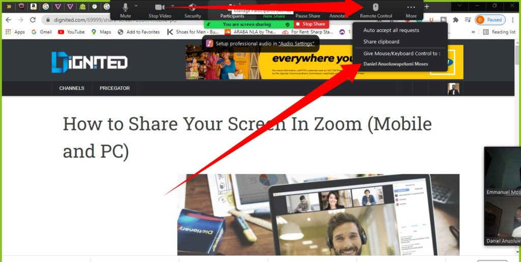Zoom Remote Support